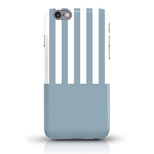 """JUNIWORDS Handyhüllen Slim Case für iPhone 6 / 6s - Motiv """"Hirsch mit Triangel-Muster"""" Schutzhülle für Ihr Smartphone Blau-Weiß gestreift"""