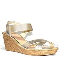 PEZZANO - PEZZANO Cuña F-033A-033 Sandalias Cuña Mujer Plata Plateadas Moda Verano 2018 Baratas Plataforma de...