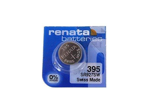 Renata 395 Button Cell watch battery, 5 Batteries by Renata