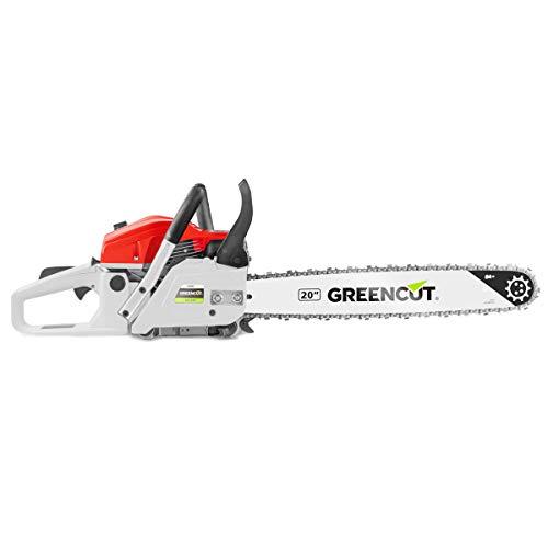 """Greencut GS620X - Motosierra de gasolina, 62cc - 3,8cv, espada de 20"""""""