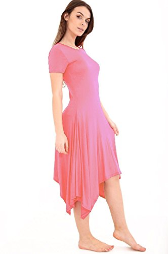 SugerDiva Womens Long Hanky ​​dress Rose