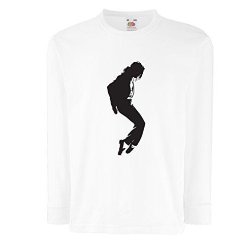 Camisetas de Manga Larga para Niño Me Encanta MJ - Ropa de Club de Fans, Ropa de Concierto (5-6 Years Blanco Negro)