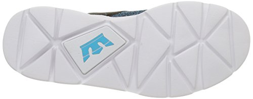 Supra Noiz, Baskets Basses Mixte Adulte Multicolore (Black/Blue Atoll/White)
