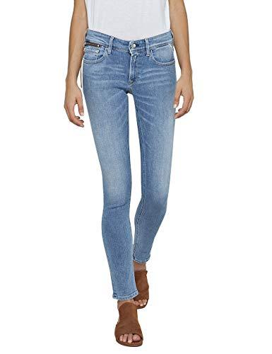 Replay Damen LUZ Coin Zip Skinny Jeans, Blau (Light Blue 10), W27/L30 (Herstellergröße: 27)