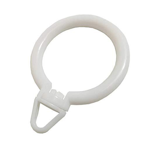 SZLLPL Curtain Rod Drapery Curtain Rings Fixed Eye Hooks Hanging Rings Vorhänge hängen Ring römischen Rods Ring Silent Ring Vorhänge Zubehör Haken Ring Aktivität Dreieck Schnalle Ring - Hanging Rod Vorhang