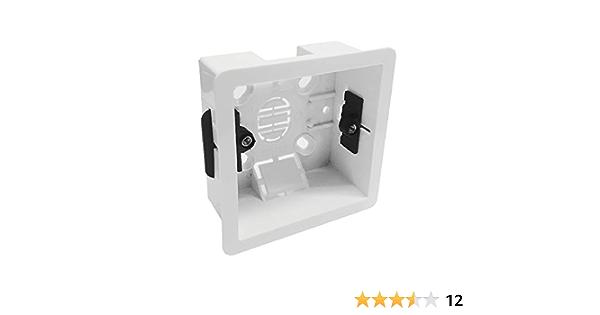 35mm Dryliner Back Box Plasterboard Plug Socket Electrical 1G Single Socket