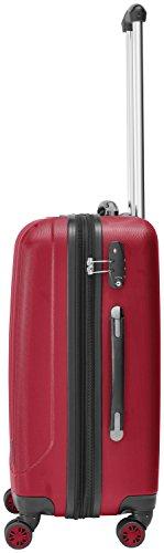 Packenger Velvet Koffer, Trolley, Hartschale  3er-Set in Rot, Größe M, L und XL -