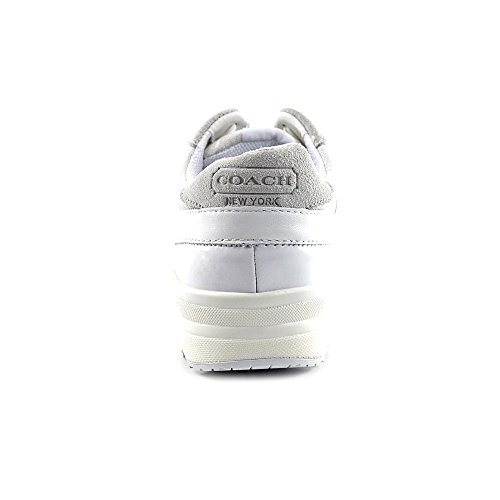 Coach Nirvana Femmes Toile Baskets White-Natural
