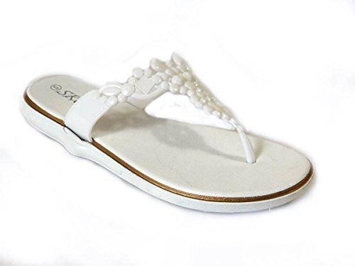 SKO'S, Infradito donna White (US408)