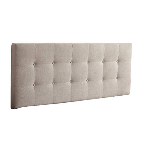 Uus Bedside Cushion, Kopfteil Pads Cover Bett Wedges Rückenstütze Taillenkissen Leinen Soft Case Waschbar Bett Kissen einfach mit Kopfteilen/Keine Kopfteile 4 Größen (beige) Pillow (Doppelbett Kopfteile)