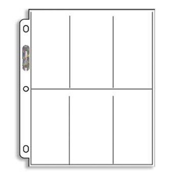Ultra Pro 100 6-Pocket Platinum Pages - Widevision - Tall Cards - Ordnerseiten (6-pocket Fit)