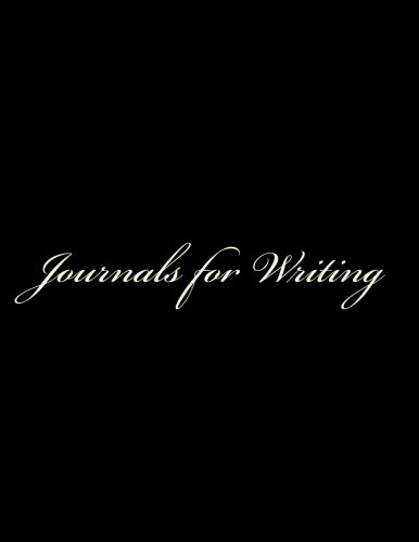 Journals for Writing: Classic Lined Pages for Writing Journal (Black Cover) Option - ON SALE NOW - JUST $6.99: Volume 1 por Matthew Harper
