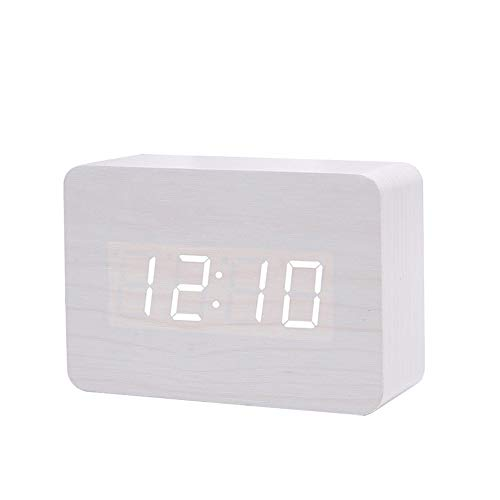 Queta Reloj Digital Despertador de Madera