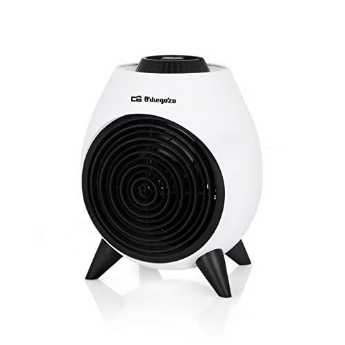Orbegozo FH 5037 Calefactor eléctrico con termostato regulable, 2000W de potencia, 2...