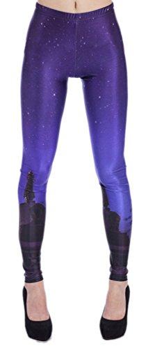Belsen Femme Deadpool série Leggings élasticité crayon Pantalon Night of Stars