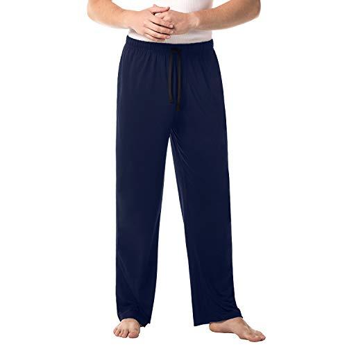 LAPASA Herren Einfarbige Schlafanzughose Pyjamahose Lang Nachtwäsche im Lässigen Stil Winter M23 MEHRWEG