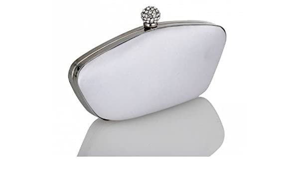 33831fd948 Ivory satin wedding bridal bridesmaid hand Clutch bag Style Orchid By Pure  and Precious  Amazon.co.uk  Kitchen   Home