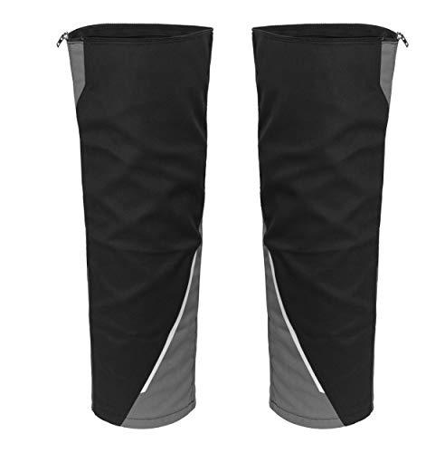 Grizzlyskin Beinling für Arbeitsshorts Iron -Workwear Beinverlängerung für Kurze Arbeitshose in versch. Farben; in versch. Größen (N3, Schwarz/Grau)