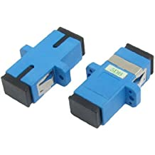 Sourcingmap SC/SC Flange Fiber Optical 5 DB Attenuator Connector (Pack of 2)