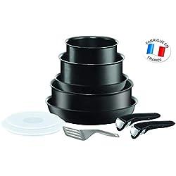 Tefal L6549702 Ingenio Performance Noir Batterie de cuisine 10 Pièces - Tous feux dont induction