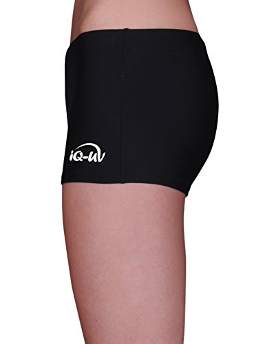 iQ-Company Damen Bikinihose UV 300 Hot Pants Watersport Schwarz