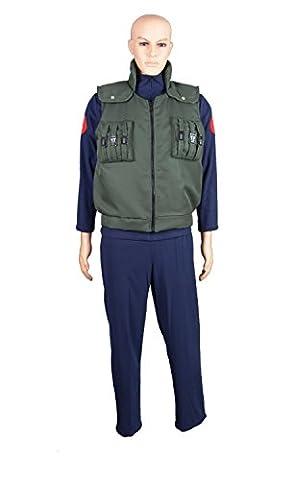 CoolChange déguisement Cosplay de Naruto avec pantalons, une veste et un gilet. Taille: L