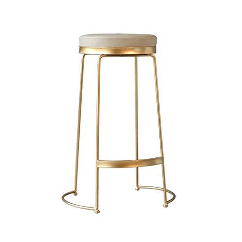 Frühstücksstühle Barhocker Hoher Hocker, runder Fußstütze aus Metall, moderner Esszimmerstuhl, Schreibtisch, Frühstücksbar, Küchenstühle Vintage rustikale Industriedesign ( Size : Sitting height45cm ) - Vintage Metall Hocker