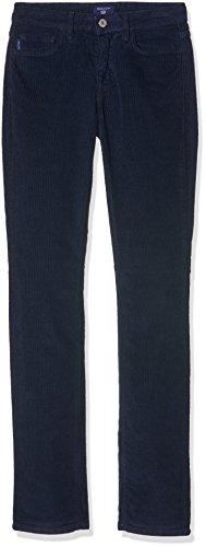 Gant Women's Regular Cord Jean, Donna, Blu (Evening Blue), W29/L32