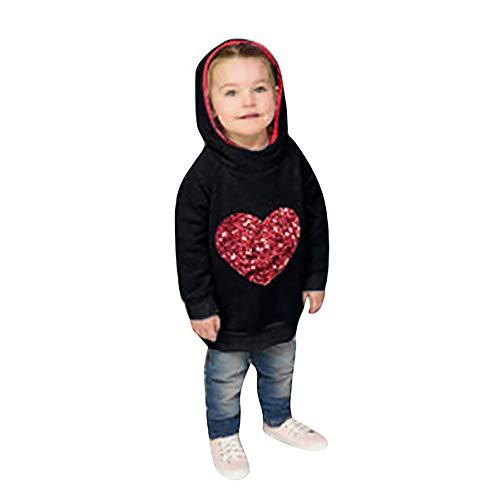LANSKIRT _Vetement D'enfant Vetement bébé, Pull à Capuche en Forme de Coeur à Manches Longues pour Enfants Sweat à Capuche vêtements de Famille LANSKIRT _Vetement D'enfant