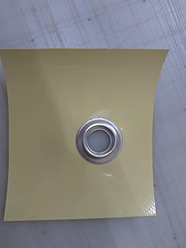 Telo telone occhiellato impermeabile e multiuso SU MISURA AVORIO 650 GRAMMI METRO QUADRO (4 X 5)