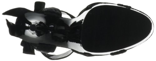 Pleaser Delight-668, Sandales  Bout ouvert femme Noir - Negro (Negro (Blk Satin/Blk))
