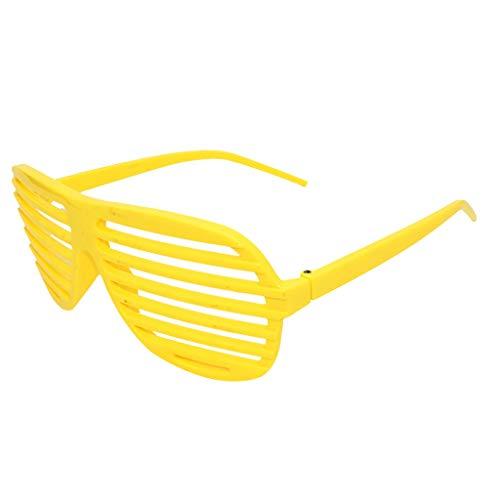 Rosennie Deutscher Karneval Lustige verrückte Kostüm Brillen Neuheit Kostüm Party Sonnenbrillen Zubehör Partybrillen Bunt Gitterbrille Spaß Spass Brille Fashion Clubmaster Brillen Party Brille