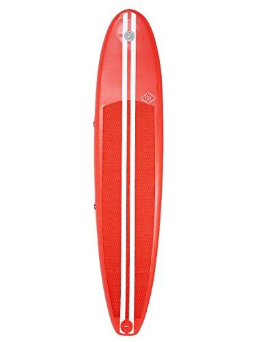 Two Bare Feet Boarding CO. 9\'0cm aufblasbares Surfbrett, Kinder Herren damen, rot