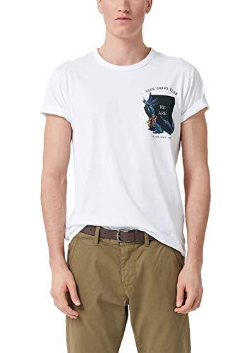 Xx-large T-shirt (s.Oliver Herren 13.903.32.3880 T-Shirt, Weiß (White 0100), (Herstellergröße: XX-Large))