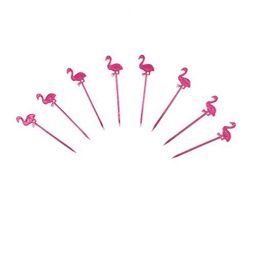 ststoff Flamingo Fruit Zahnstocher Food Deko Tropische Party Supplies ()