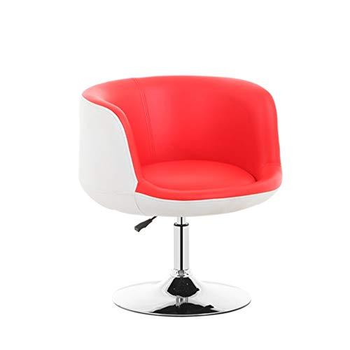 BYZ Sitz Stuhl-Bar Stuhl Kunstleder + Schwamm gefüllte Sitze Computer Stuhl 360 Grad; Drehstuhl kann Heben Haushaltspersonal Bürostuhl mit Rückenlehne Esszimmerstuhl Barhocker 38.5Cm Runde Chassis - -