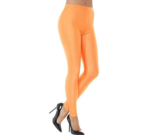 Smiffys-48112M Mallas De Licra De Discoteca Años 80 Color Naranja neón M - EU Tamaño 40-42 Smiffy'S 48112M