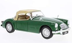 MGA MKI Twin Cam Closed Softtop, Grã¼n/beige, RHD, 1959, Modellauto, Fertigmodell, Triple 9 Collection 1:18