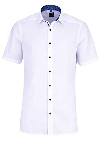 Olymp Herren Hemd Modern Fit Kurzarm Weiss (10) 42 -