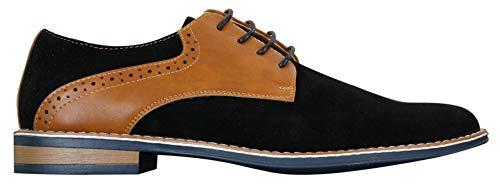 89ca2e1ab4a00 Chaussures Homme Simili Daim et Cuir PU Lacets Style Chic décontracté Bout  Rond Marron Bleu Noir