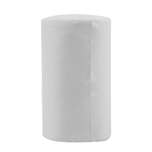Gugutogo Pannolini per pannolini di stoffa biodegradabili in flacone per neonati 100 fogli/rotolo (colore: bianco)