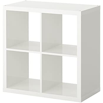 Ikea kallax shelving unit white 77x77 cm for Ikea box shelf unit