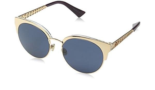 Christian Dior Damen Sonnenbrille Dioramamini DC J5G, Gold (Gold/Extra White Marl), 50