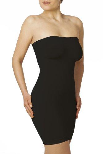 Sleex Combinación moldeadora sin tirantes, negro, talla S/M (44026)