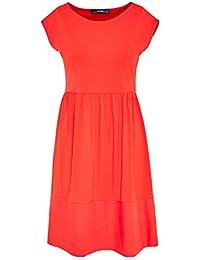 HALLHUBER Jerseykleid mit Ton-in-Ton-Saumblende schwingende Form