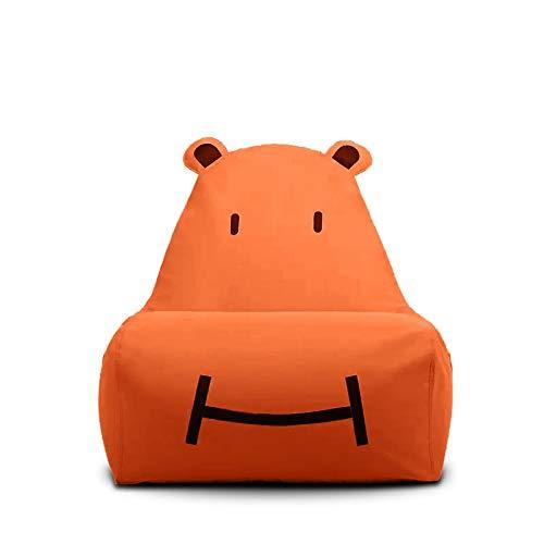 Bean Bag Sitzsack Kinder Nilpferd Faules Sofa Kinder Abnehmbares Wohnzimmer Im Freien Geeignet Für Leselampe Sofa (Color : Orange)