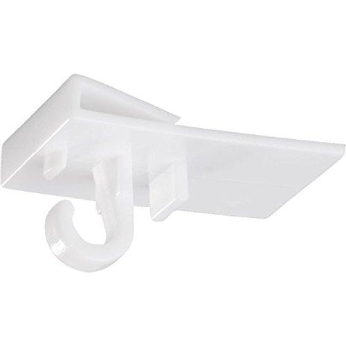 LEMAX Ceiling-Clip, zum Einhängen an T-Schiene PVC 19 x 30 mm 10 Stück/Packung | Haken | Deckenhaken | Deckenbefestigung