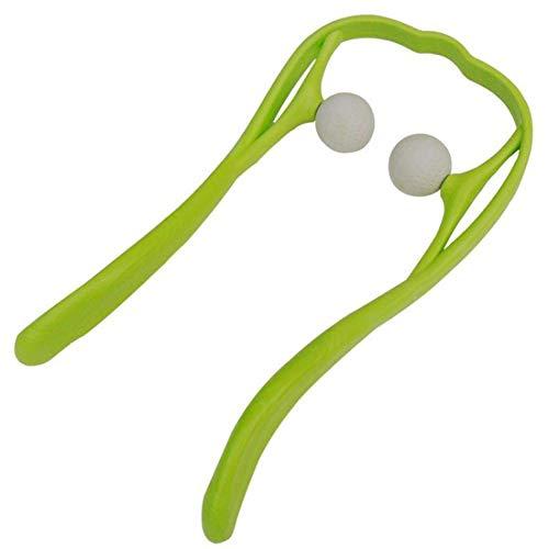 Handheld Deep Tissue Self Massage Tool Trigger Point Self Massage Tool Handheld Neck Shoulder Massager Schmerzlinderung,Green (Stick Die Massage-tool)
