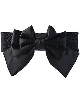 eBoot Cinturón de Lazo Correa Ancha Cinturón Elástico de Lazo para Mujeres Chicas Niñas, Negro