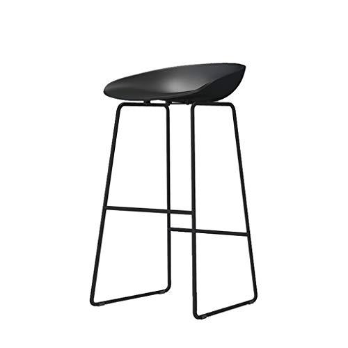 Eisen Barhocker, minimalistische Rezeption Stuhl, solide Pyramidenstruktur, gebogenes PP-Kissen, mit Anti-Rutsch-Matte (Farbe/Größe optional) - Eisen Barhocker